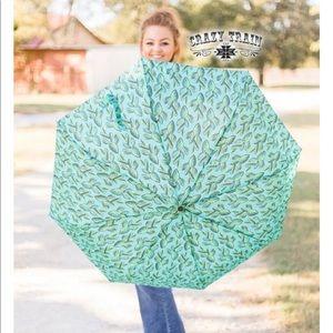 Desert Storm Umbrella. Cactus Print Umbrella.